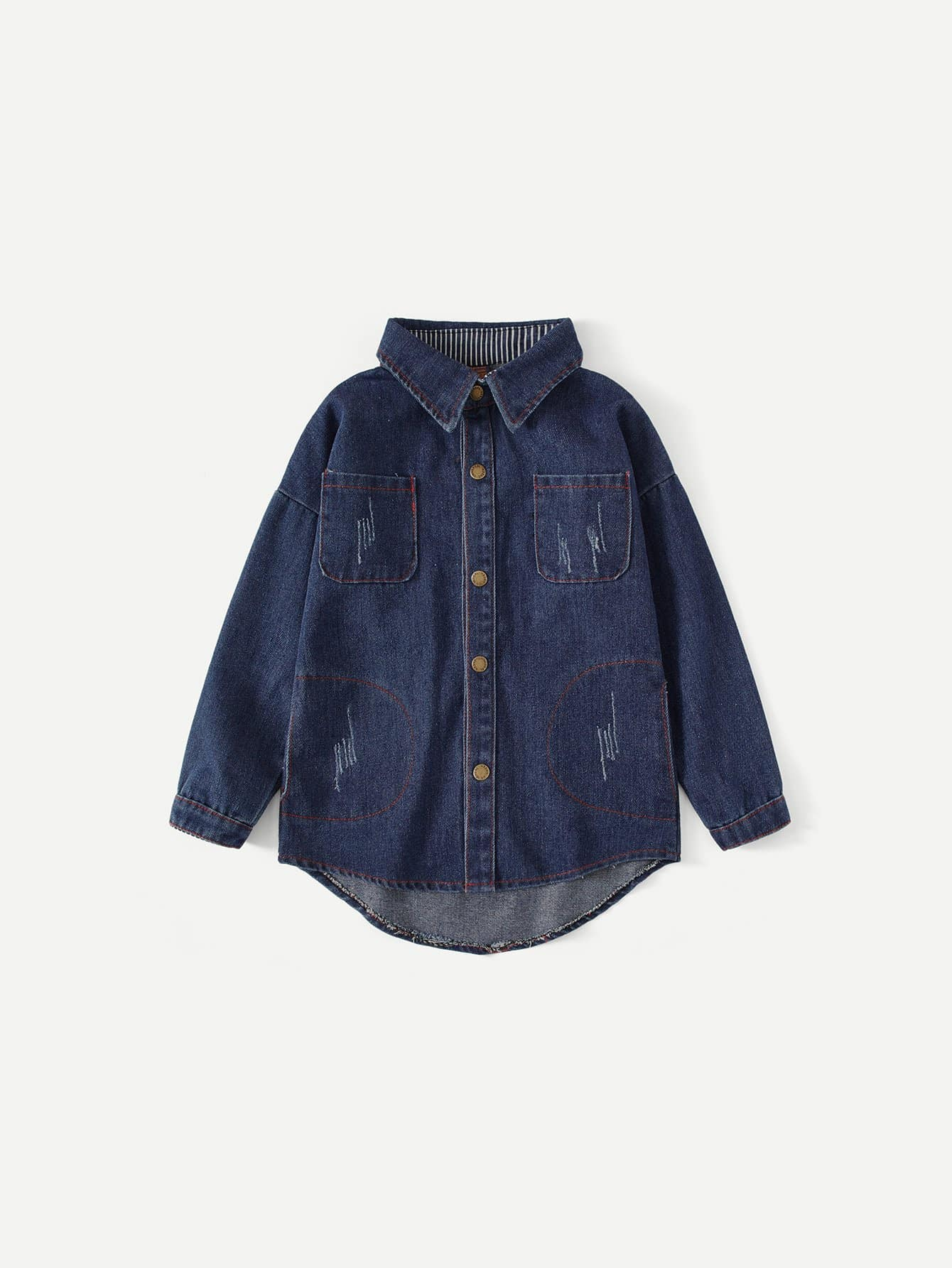 все цены на Kids Letter Print Back Denim Jacket