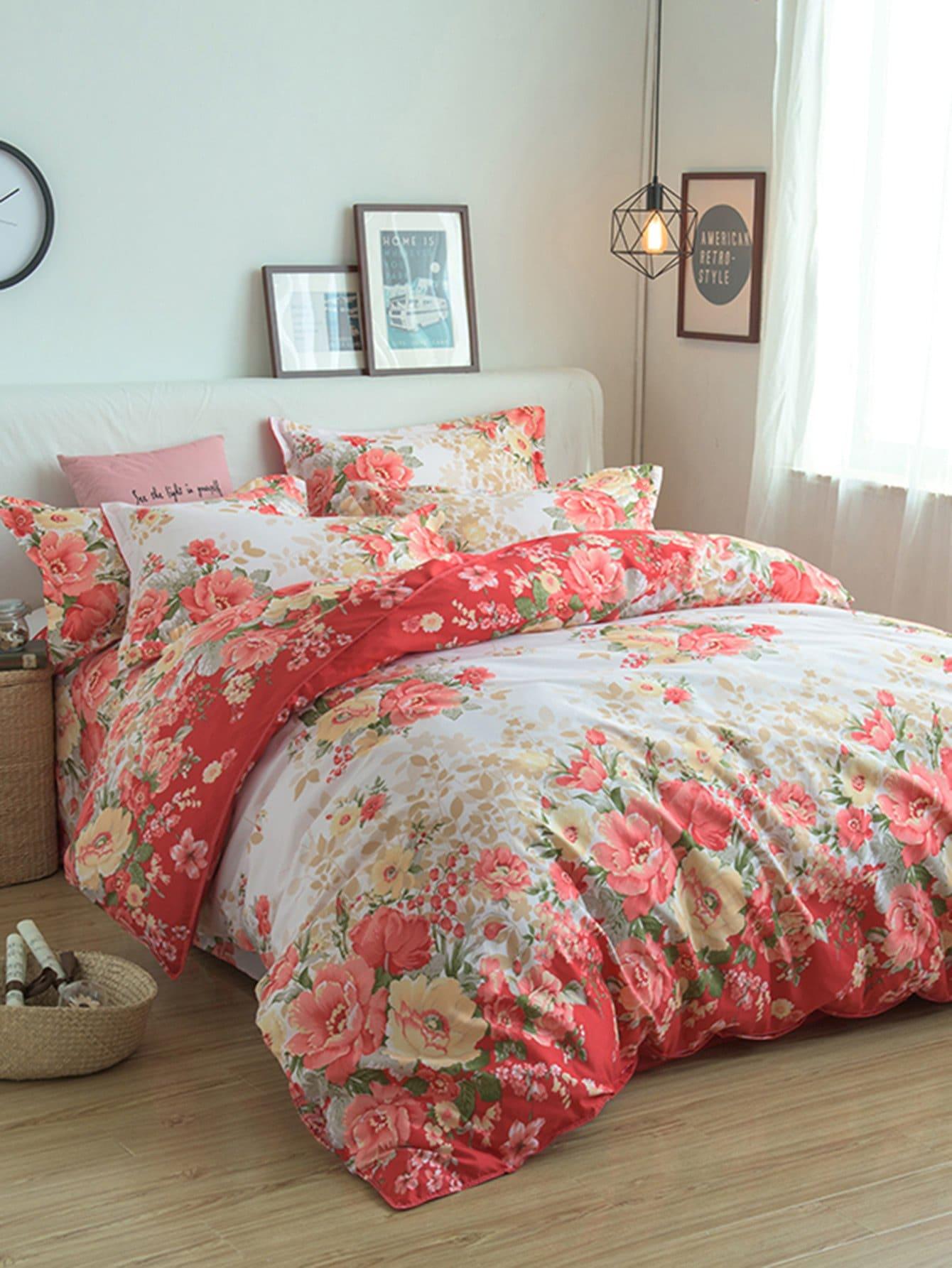 All Over Florals Print Bedding Set all over florals shirt