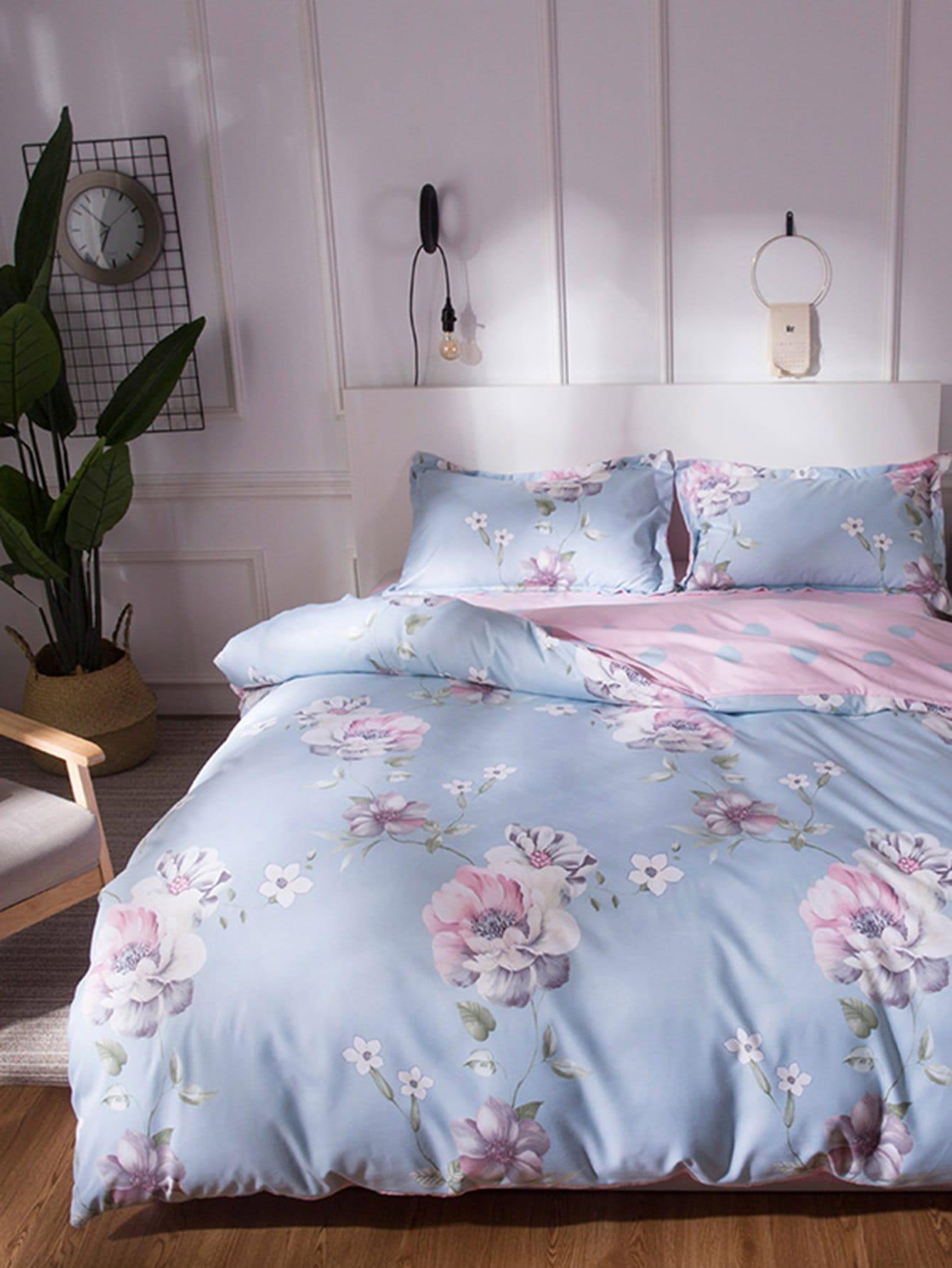 Floral Bedding Set 1 5m 4pcs floral print bedding set