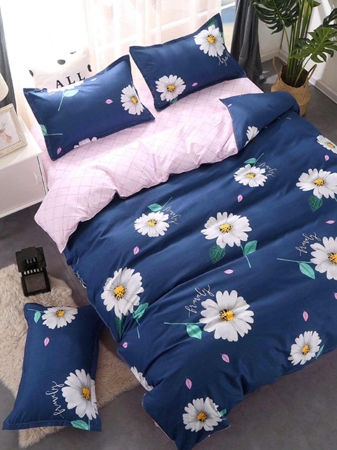 Flower Print Bedding Set flower print bedding set