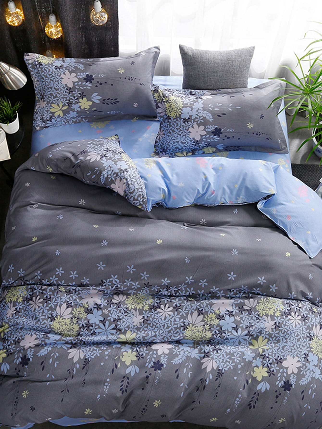 цены Calico Print Bed Sheet Set