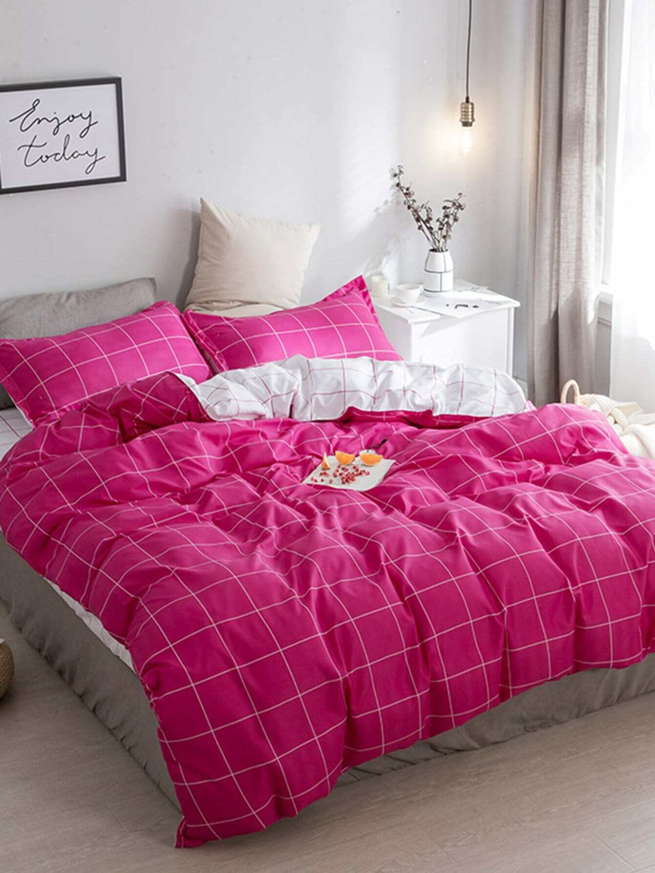 Grid Duvet Cover Set grid duvet cover set