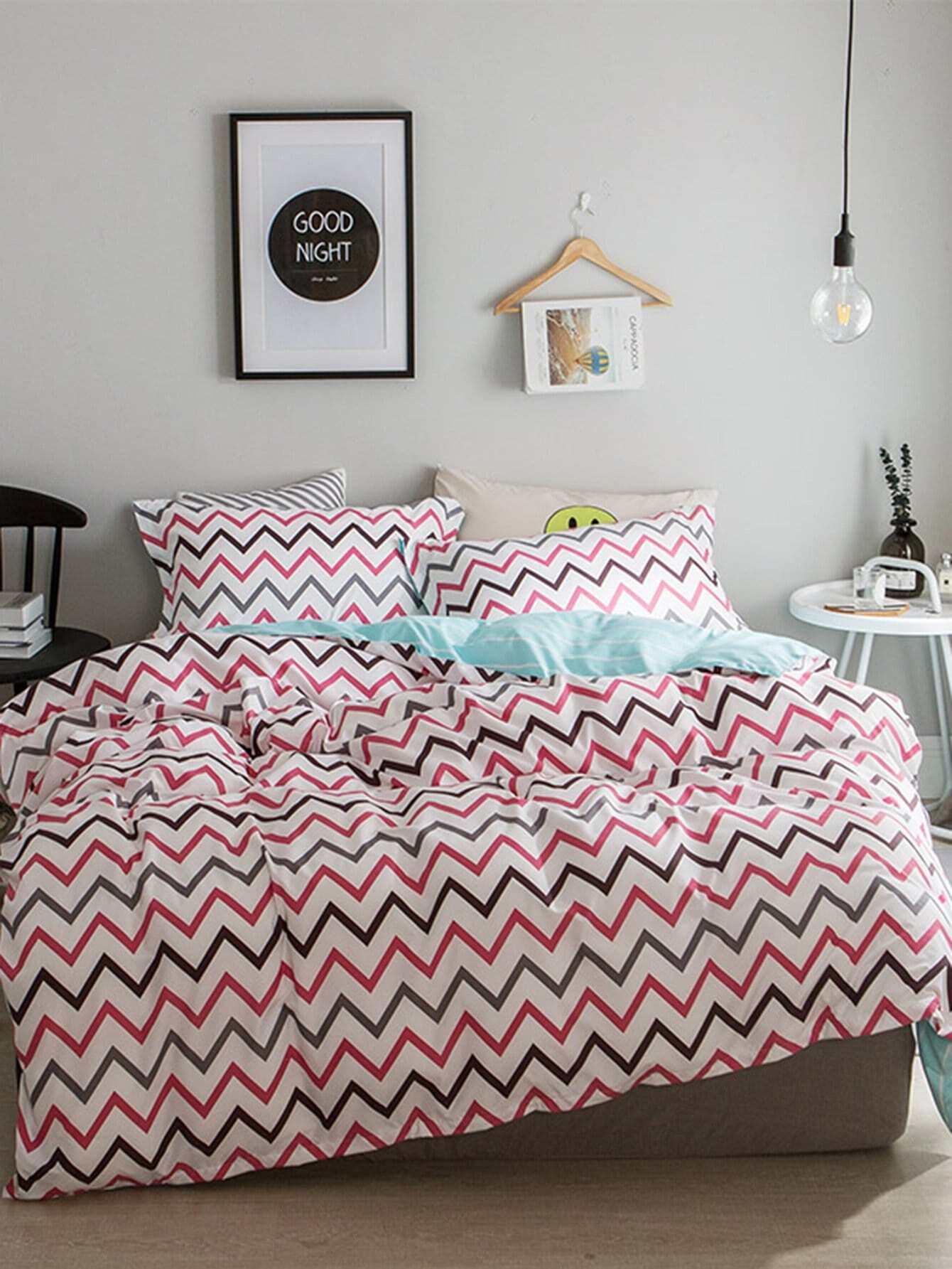 Chevron Print Bedding Set heart print bedding set