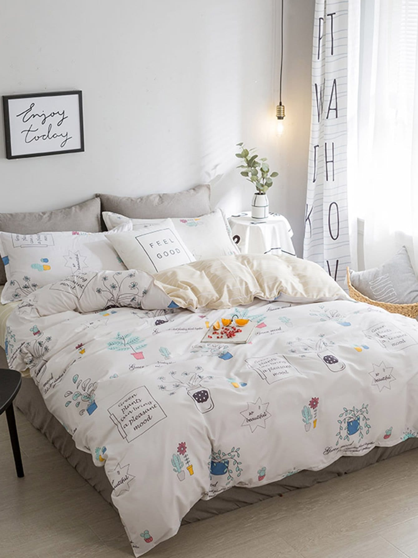 Cartoon Print Duvet Cover Set горки qiaoqiao мини qq12066 6