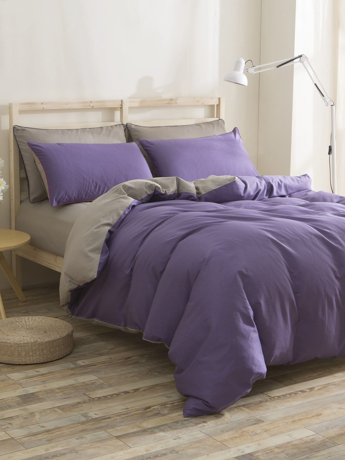 Two Tone Bedding Set two tone heart