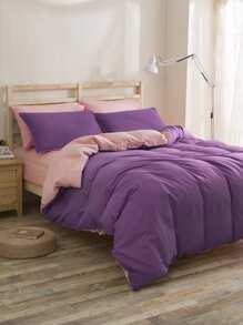 Two Tone Bedding Set ROMWE