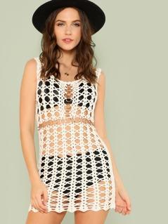 Crochet Swimsuit Cover Up Dress