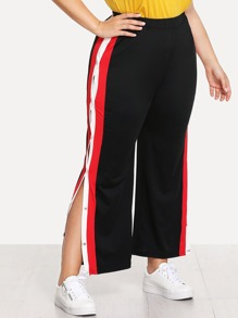 Striped Split Side Pant