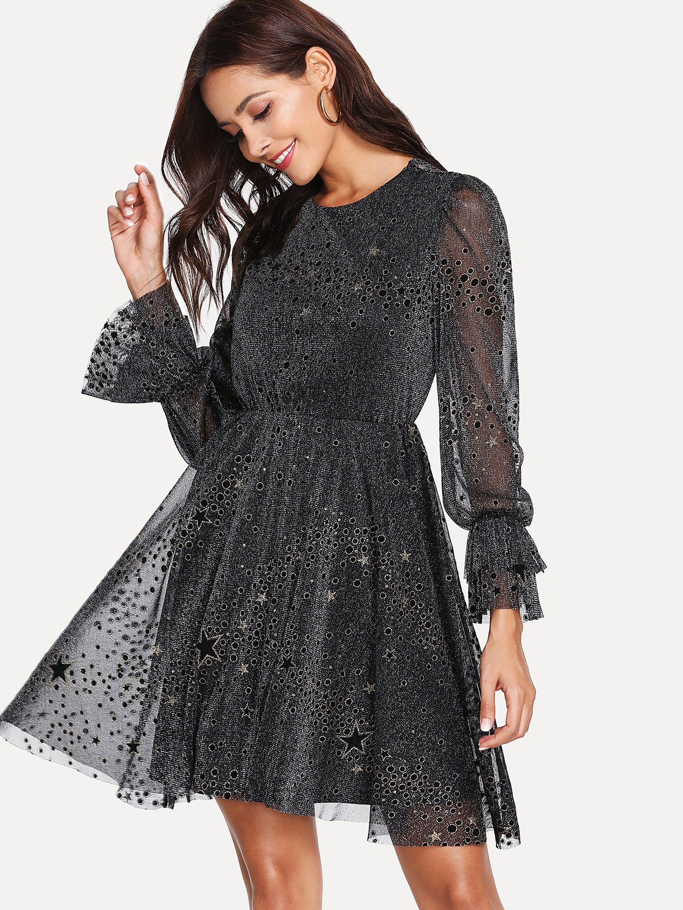 Купить Блестящее прозрачное платье, Giulia, SheIn