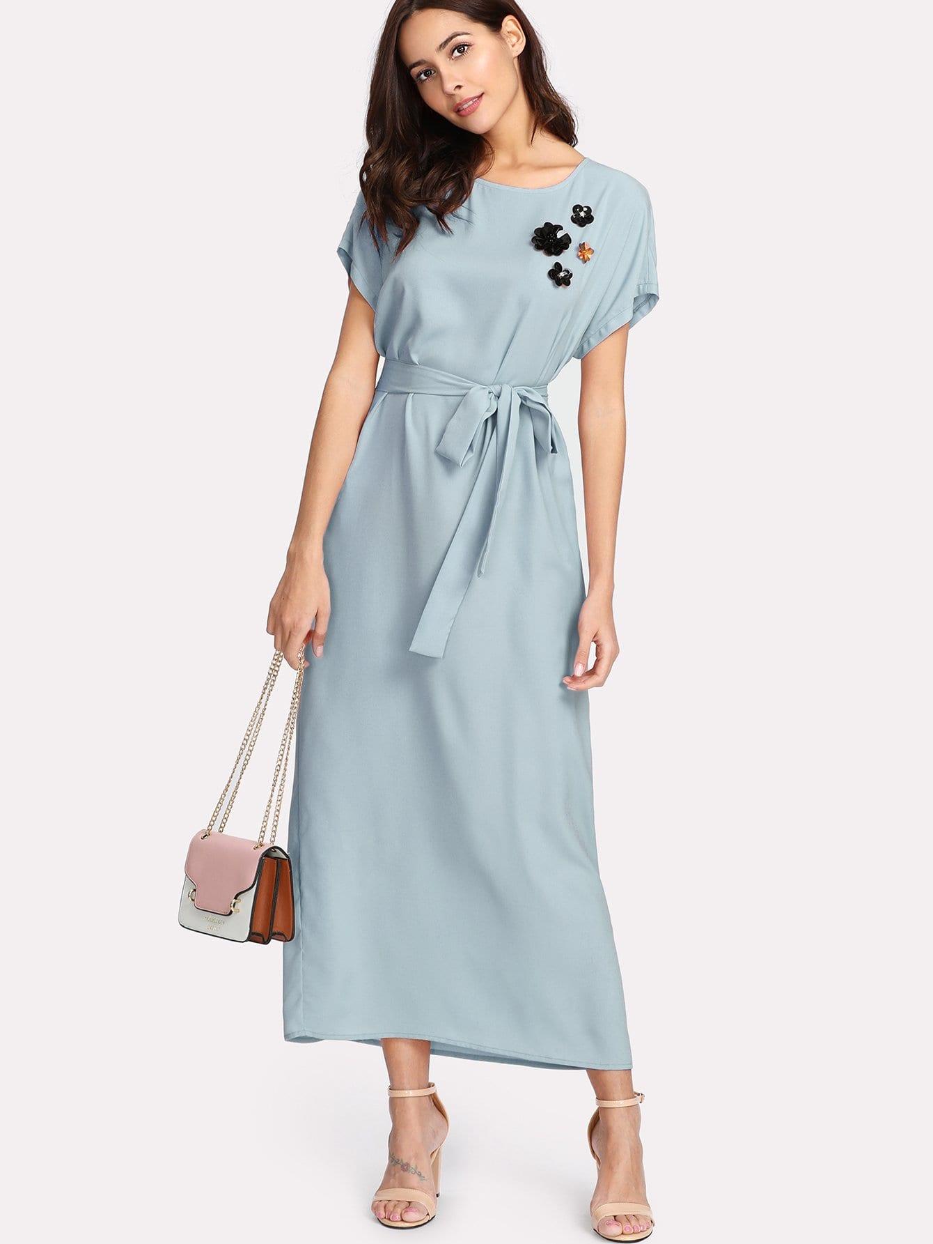 Купить Цветочное платье с рукавами долман, Giulia, SheIn