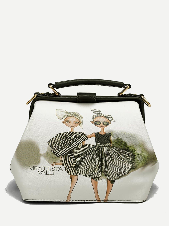 Купить Девушка наплечная сумка, null, SheIn