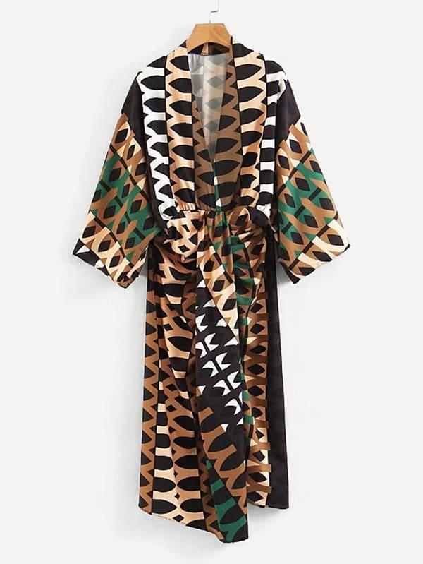 Geo Print Twist Front Dress все цены