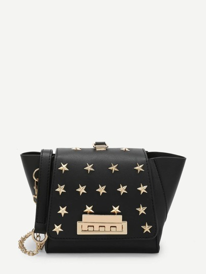 Star Rivet Crossbody Chain Bag