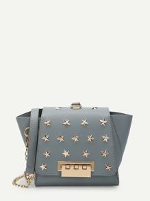 Star Rivet Crossbody Chain Bag