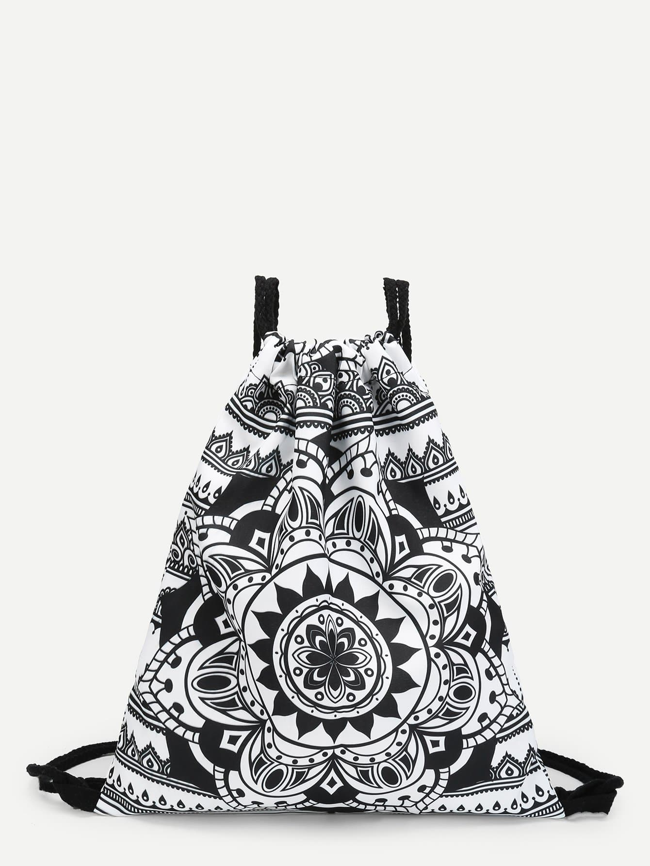 все цены на Baroque Style Pattern Drawstring Backpack