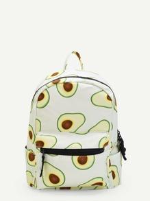 Avocado Print Drawstring Backpack
