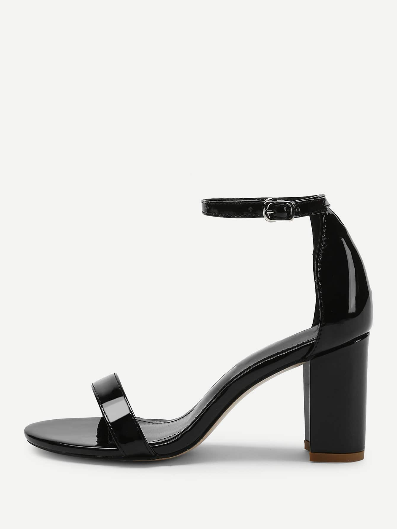 Two Part Ankle Strap Patent Leather Heels two part stiletto heels