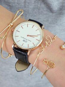 Gold Bow Pineapple Bracelet