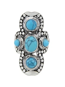 Blue-7 Vintage Turquoise Ring