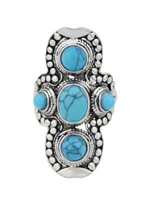 Blue-8 Vintage Turquoise Ring