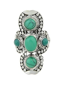 Green-8 Vintage Turquoise Ring