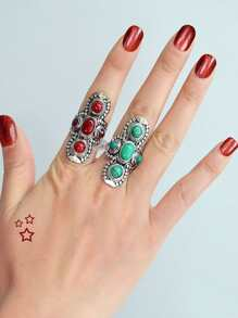 Red-8 Vintage Turquoise Ring