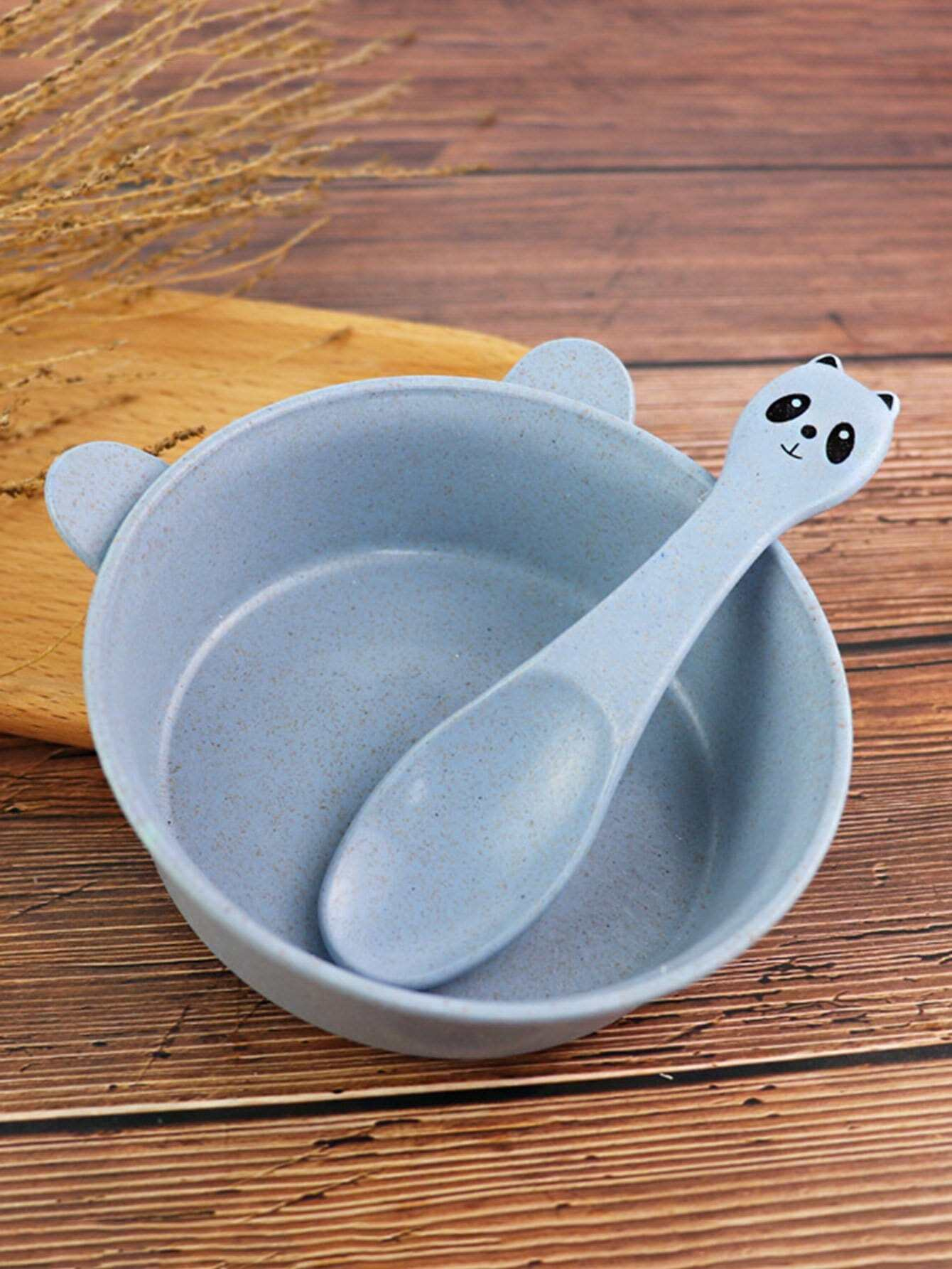 Купить Panda Shaped Bowl With Spoon, null, SheIn