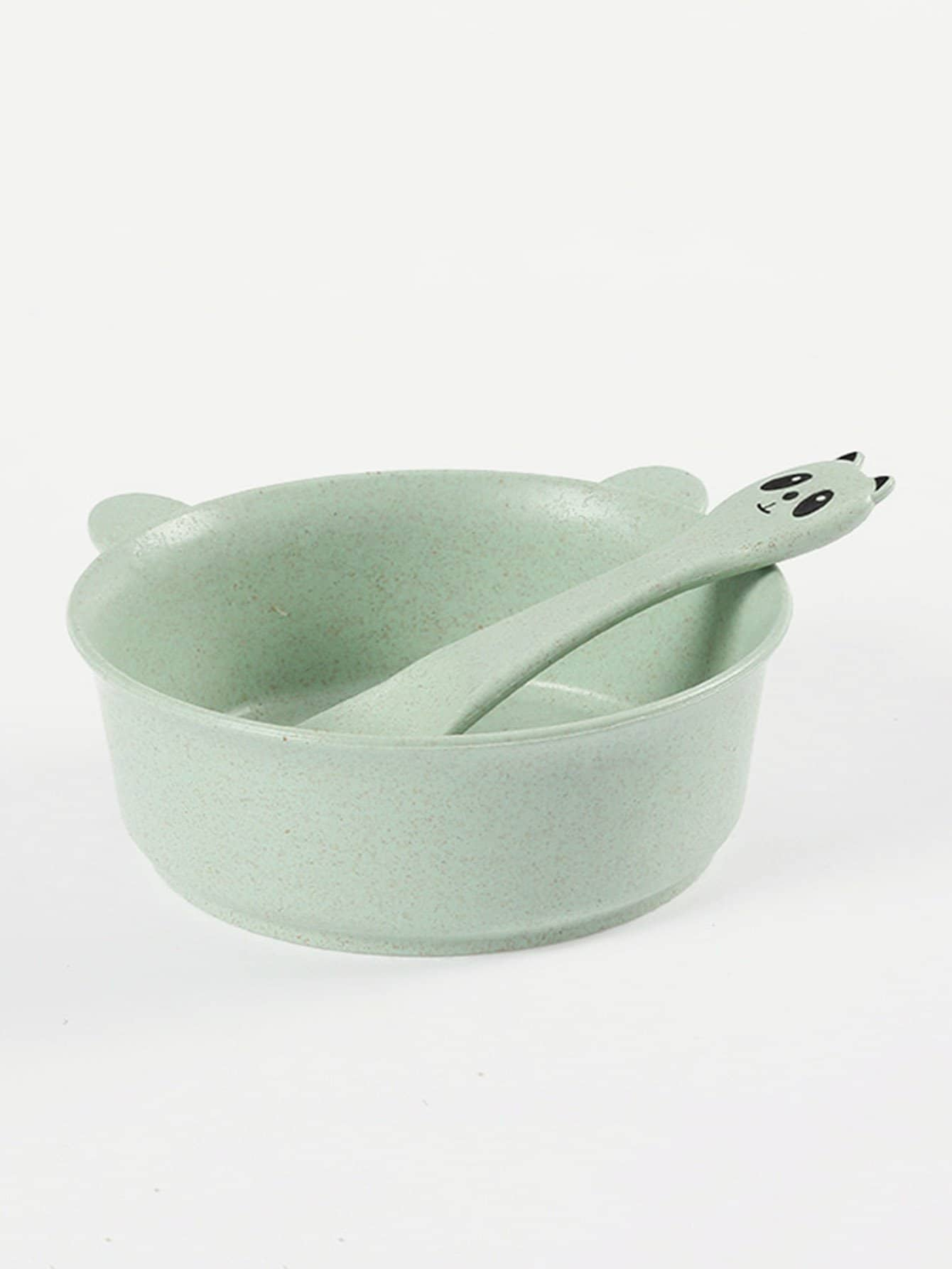 Panda Shaped Bowl With Spoon