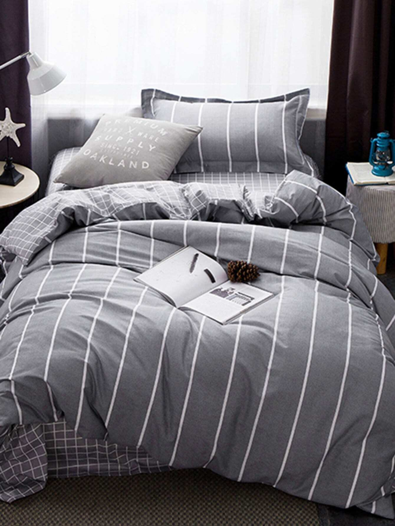 Striped Bedding Set vertical striped bedding set