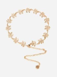 Leaf Detail Chain Belt