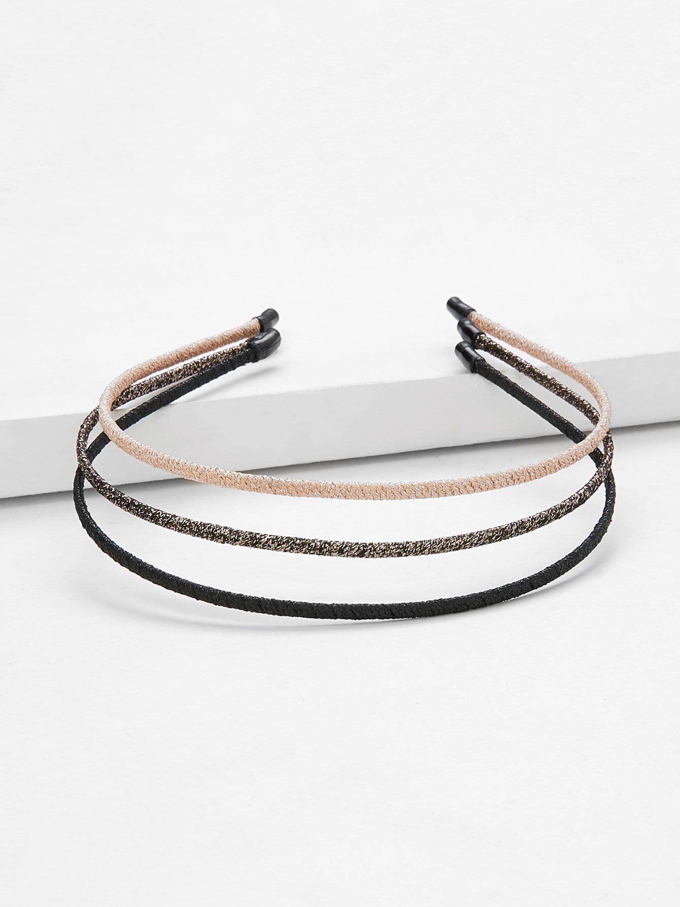 Skinny Headband 3pcs plain headband 3pcs