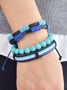 Punk Turquoise Bracelet Set