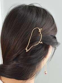 Gold Birdie Hair Clip