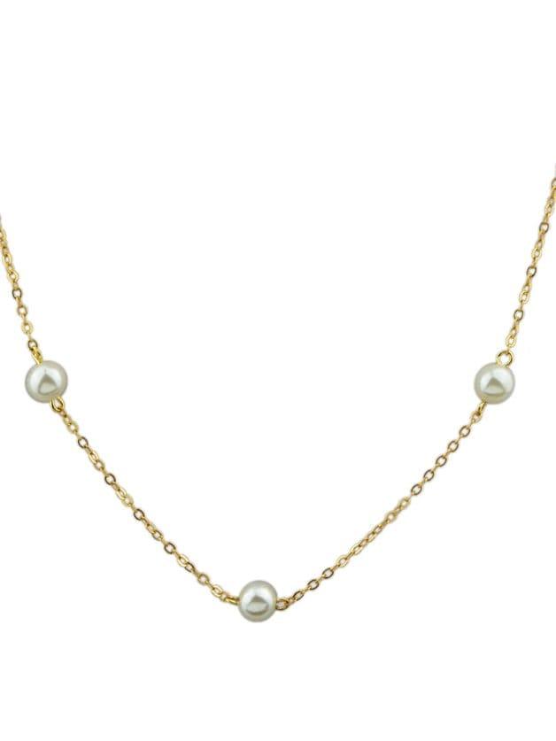 Gold Pearl Body Chain