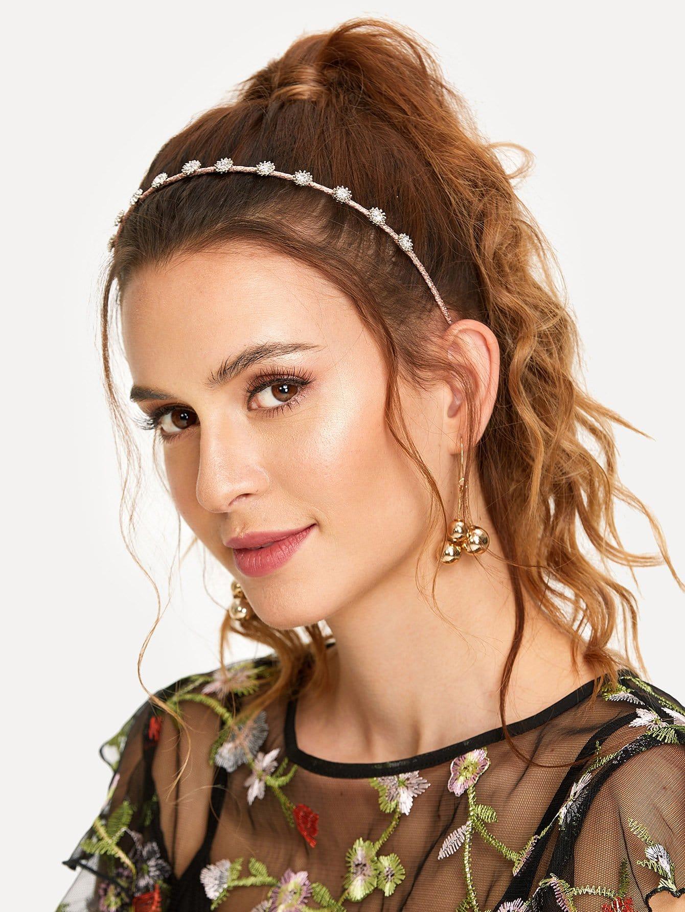 Rhinestone Decorated Headband crown decorated headband