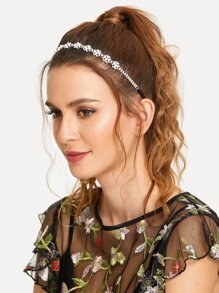 Faux Pearl Decorated Headband