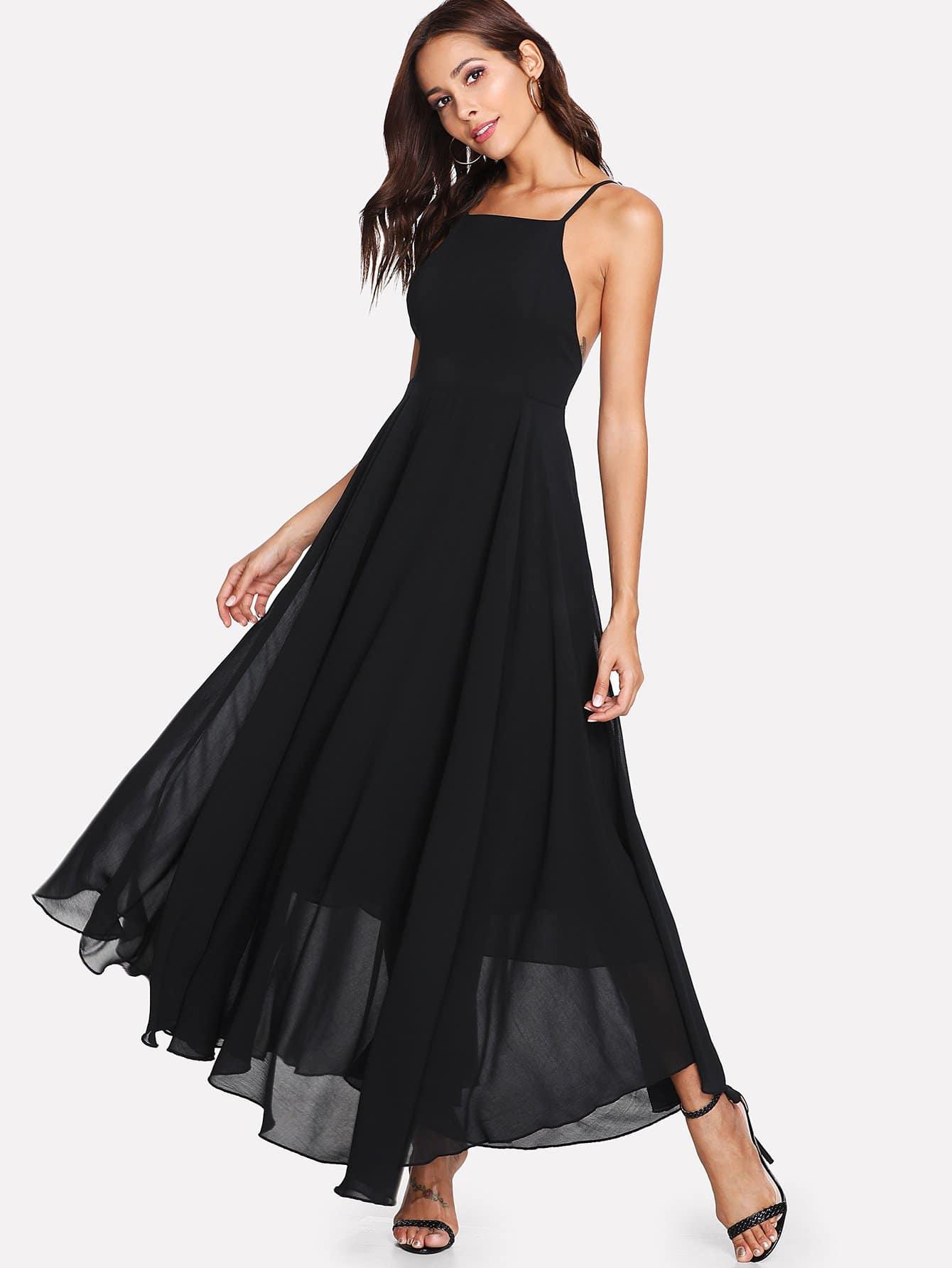 все цены на Criss Cross Back Cami Dress