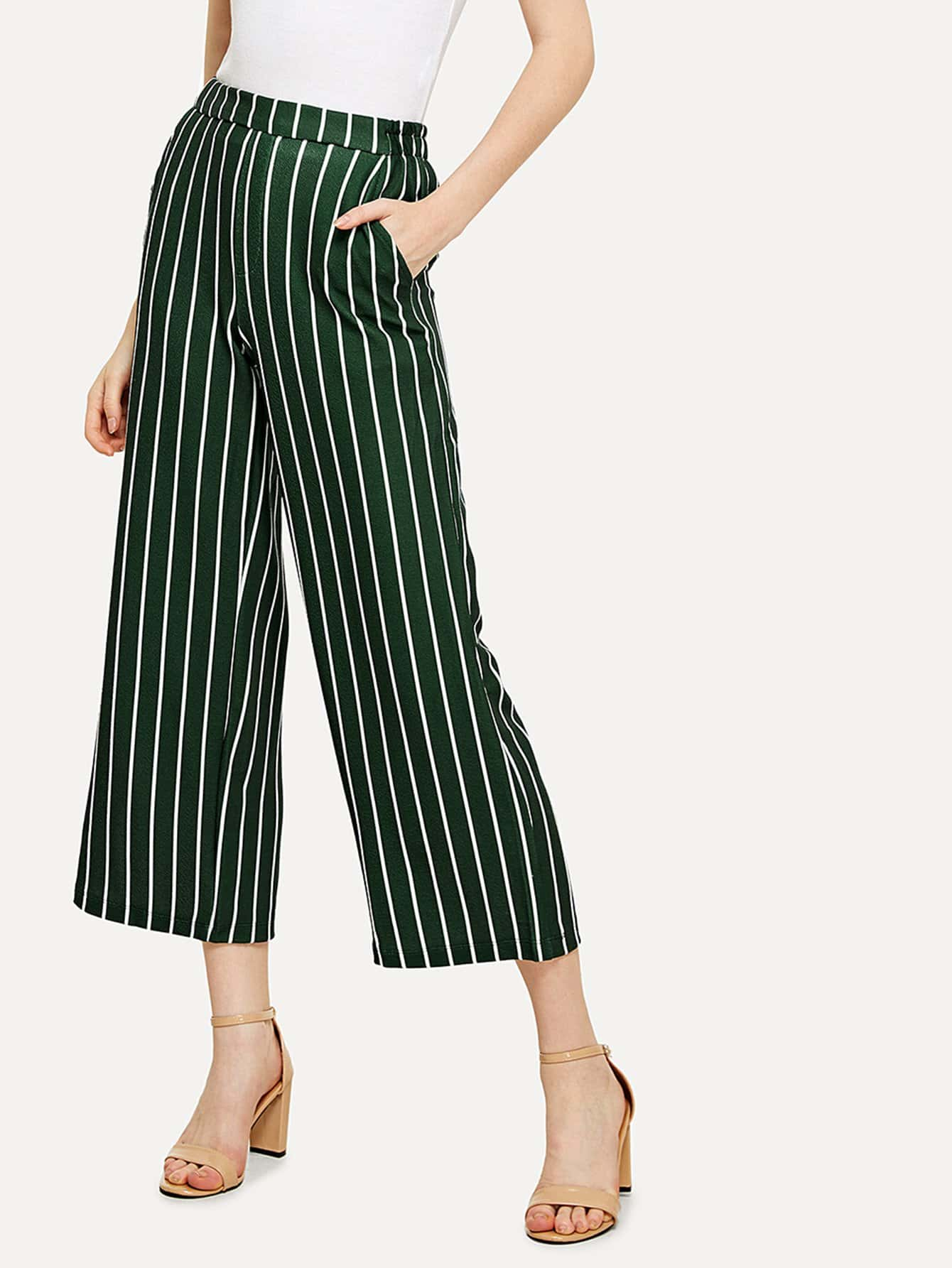 Фото Elastic Waist Striped Pants kids elastic waist striped pants