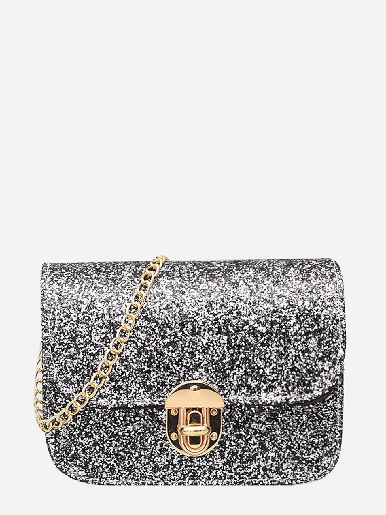 все цены на Sequin Detail Chain Shoulder Bag