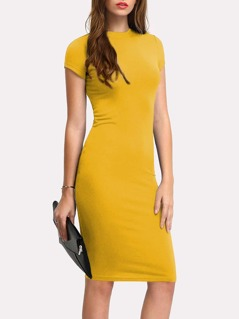Solid Pencil Dress