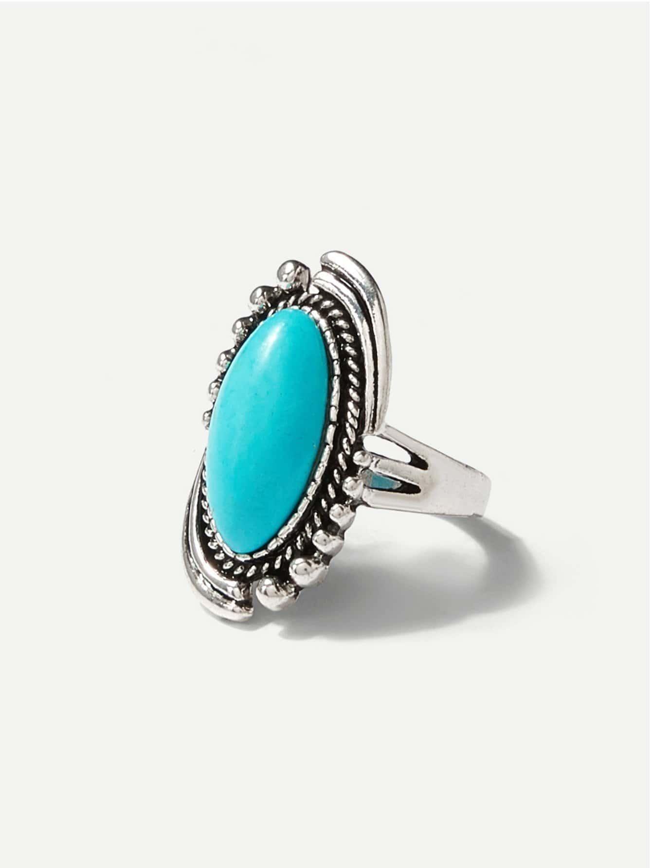 Oval Gemstone Ring все цены