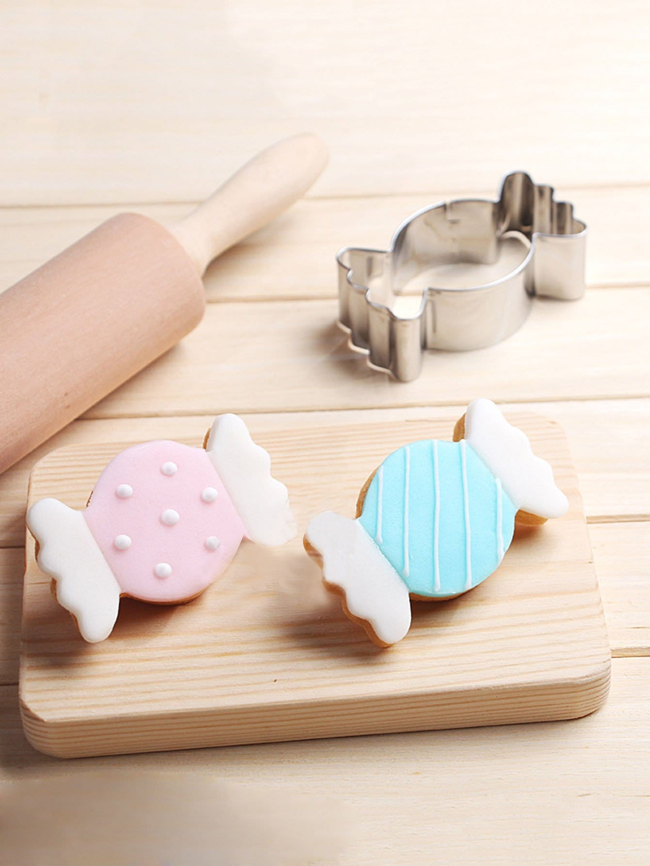 Stainless Steel Cookie Cutter Candy Mold 1pc dough cutter mold 3pcs