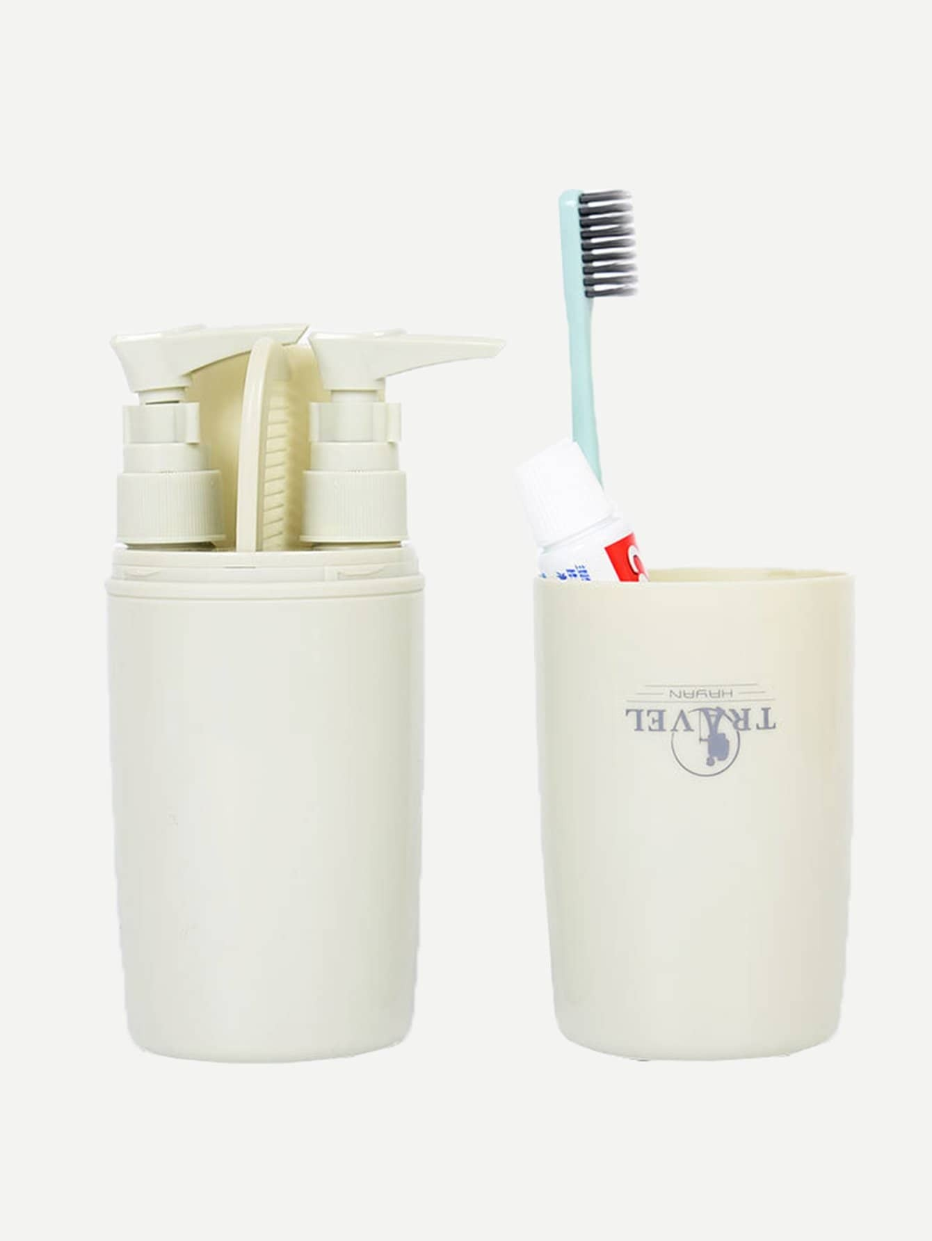 Double Travel Bottle Container With Comb double travel bottle container with comb