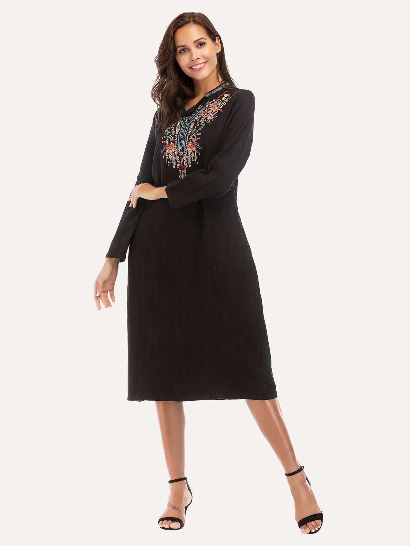 Tribal Embroidered Dress цена 2017