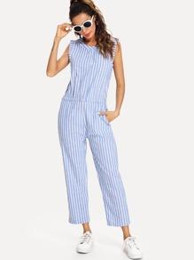 Hidden Pocket Stripe Jumpsuit