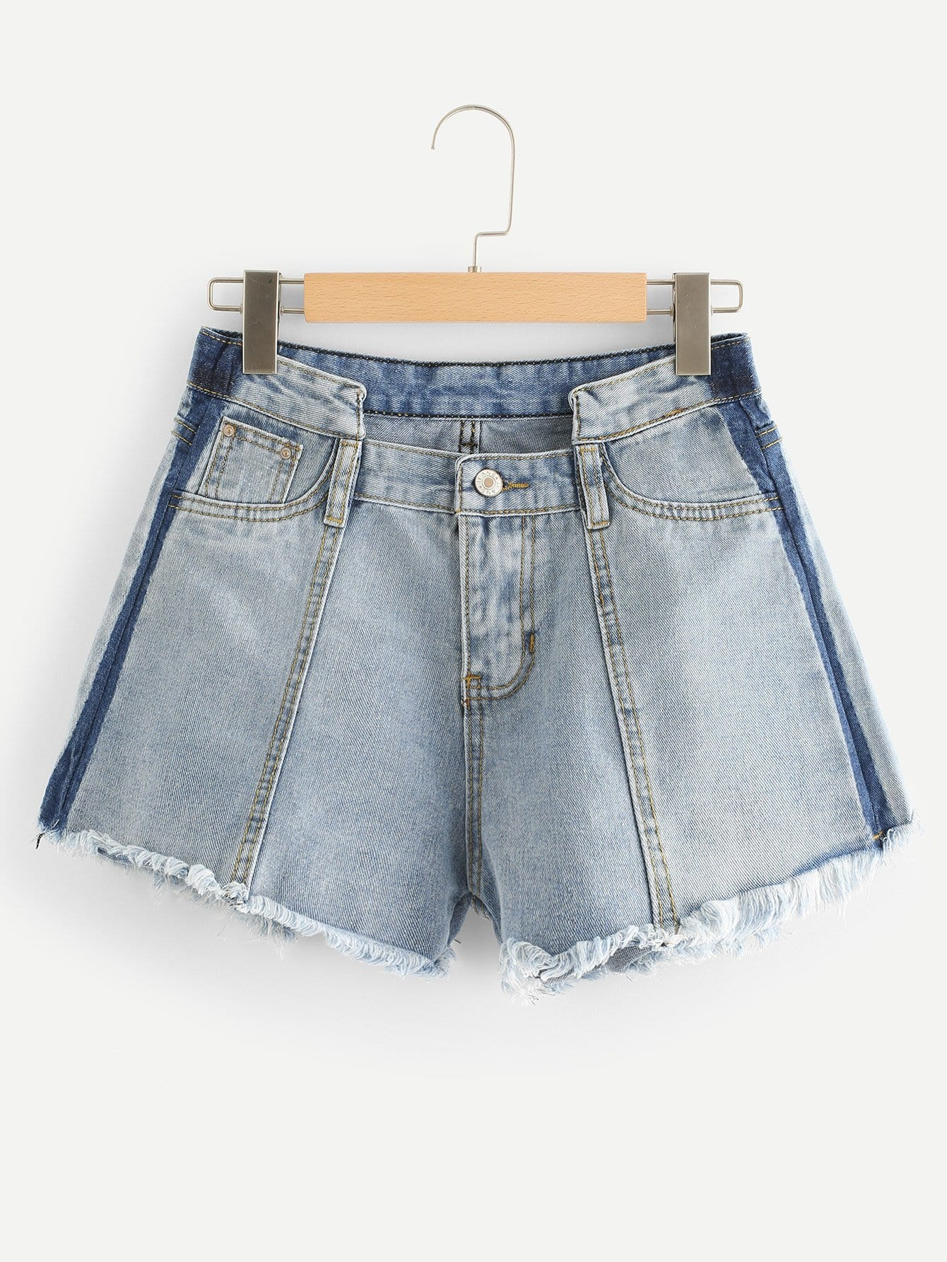 Raw Hem Bleach Wash Denim Shorts lace up raw hem bleach wash hot pants