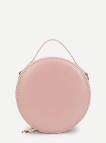 Round Zip Around Crossbody Bag