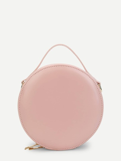 Round Zip Around Crossbody Bag