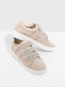 Velcro Slip On Sneakers