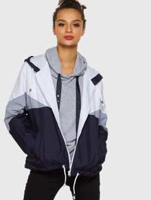Cut And Sew Windbreaker Jacket